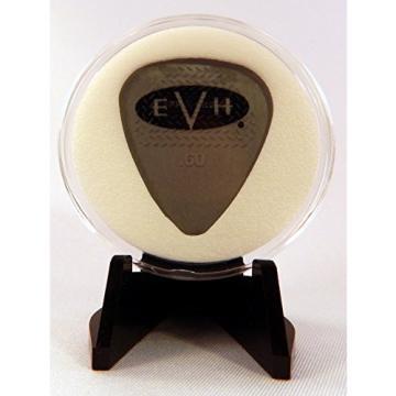 EVH Eddie Van Halen Gray Guitar Pick With MADE IN USA Display Case & Easel
