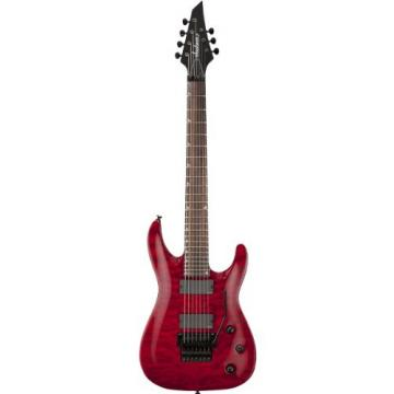 Jackson SLATXMGQ3-7 Soloist Electric Guitar, Rosewood Fingerboard, Quilted Top - Trans Red