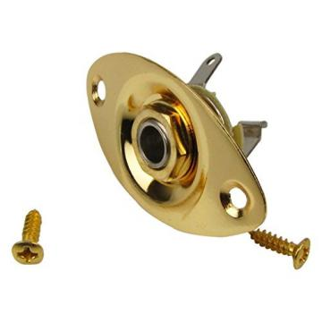 IKN Golden Oval Metal Jack Output Plate for Electric Guitar Dented