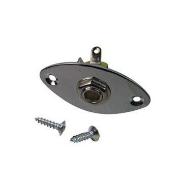 IKN Chrome Oval Jack Output Plate Jackplate for Electric Guitar