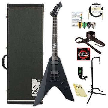 ESP EVULTUREBLKS James Hetfield Signature Vulture Electric Guitar, Black Satin