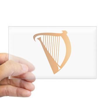 CafePress - Harp Sticker (Rectangle) - Rectangle Bumper Sticker Car Decal