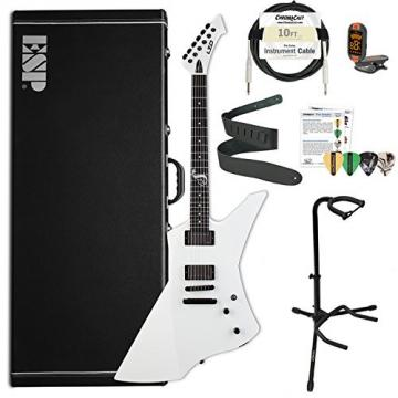 ESP LSNAKEBYTESW-Kit01 ESP LTD James Hetfield Snake Byte Snow White Electric Guitar
