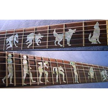 Fretboard Markers Inlay Sticker Decals for Guitar- Werewolf