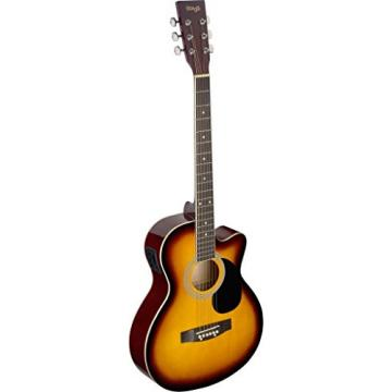 Stagg SA20ACE SNB Auditorium Cutaway Acoustic-Electric Guitar - Sunburst
