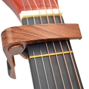 Guitar Capo Guitar Picks Acoustic & Electric Guitar Capo Key Clamp With Free 4 Pcs Guitar Picks - lightweight Zinc alloy (Rosewood)