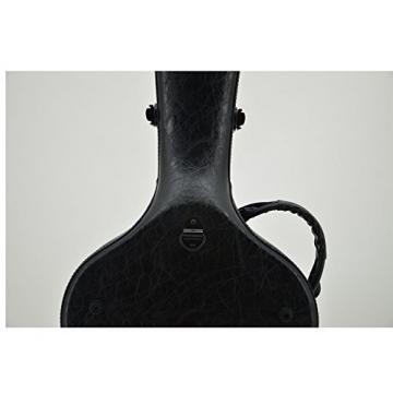 Crossrock CRF1000CBKL Fiberglass Classical Guitar Case Hardshell- Backpack Style for 4/4 Full Size in Black Leather