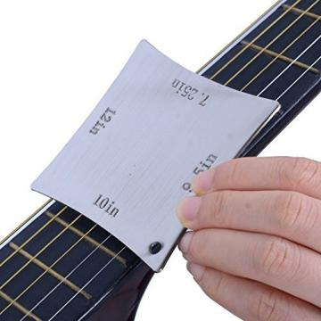 MusicOne Guitar Radius Gauge Electric Guitar Neck Fretboard Radian Ruler Guitare Tool Repair Diy Feet
