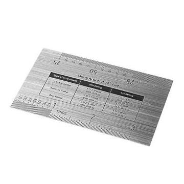 Aenmil® Long lasting Stainless Steel Measuring String Action Gauge Ruler Guide Setup Measuring Luthier Tool For Guitar Bass Mandolin, Banjo Instruments, Can be Used to Measure String Height, Bridge Saddle Height, Saddle Slot Depth and etc.
