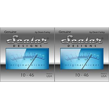 2 Sets Scalar Designs Original Nickel Electric Guitar Strings 10 - 46 Lights (Ideal for single coil pickups)