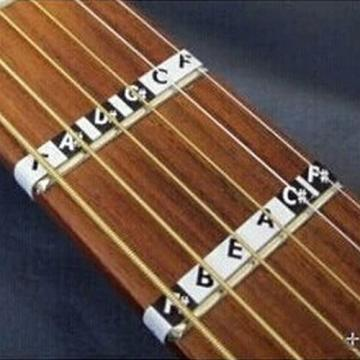 uxcell Guitar Neck Fingerboard Fretboard Miusical Note Guide Map Fret Sticker Decals Black