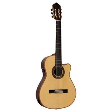 Giannini GCPP CEQ B BAND Acoustic-Electric Guitar Handcrafted Cutaway Nylon with AT3X Pre-Amp, Solid Red Cedar Top