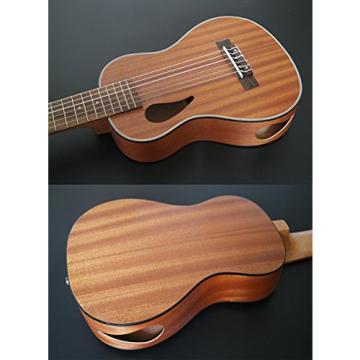 "HOT SEAL 28 inch Creative Cute Mini Acoustic Guitar Children Kids Handmade Carving Dapper Professional Beginners 28"" Guitarlele Guilele (Sapele Hollow)"