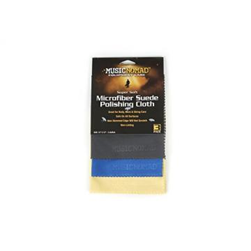 Music Nomad MN203 Microfiber Polishing Cloth, 3 Pack