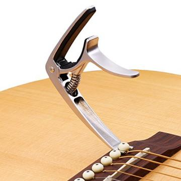 ROCKET Guitar Capo Design For Guitar Bass Banjo Mandolin - Made of Ultralight Zinc Alloy For 6 or 12 String Instruments (silver)