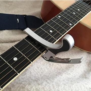 IFFree Best Music Guitar Capo with five Guitar fingers and five guitar picks , No Scratches, No Fret Buzz, Easy to Move,Made of Ultra Lightweight Aluminum Meta