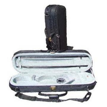 Merano CV200 1/8 Size Lightweight Oblong Violin Case ~ Black / Grey