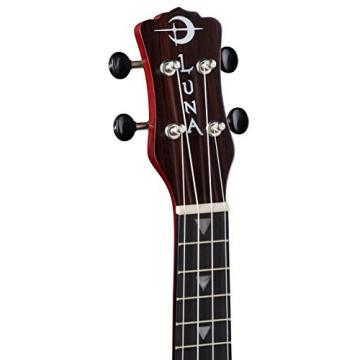 Luna Guitars UKE-VMS-RDS-KIT-1 Vintage with Quick Start Guide & Tuner, Red Satin Mahogany Soprano Ukulele