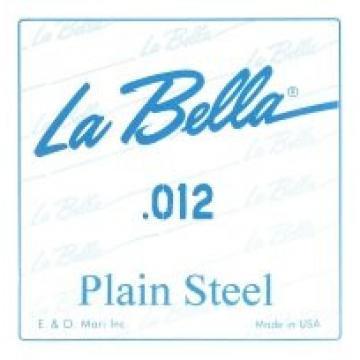 La Bella 12 Plain Steel