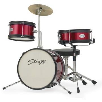 Stagg TIM JR 3/12 RD 3 Piece Junior Drum Set with Hardware - Red
