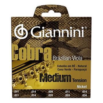 Giannini GESVNM Brazilian Viola Medium Gauge Nickel Strings, .011-.034
