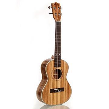"Greneric 26"" Tenor Ukulele Small Hawaiian Guitar Wood Musical Instruments Zebra Wood+Bag"