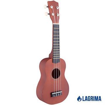 """LAGRIMA 21"""" Wood Acoustic Soprano Ukulele 12 Frets Uke Sapele Instrument"""