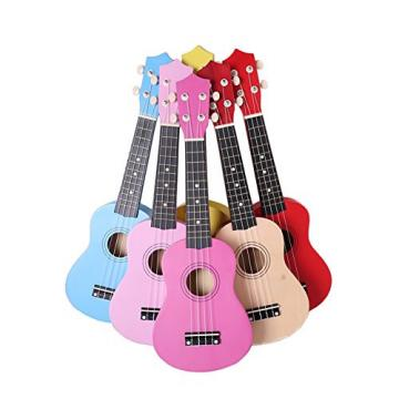 Youareking Kid's Wooden Ukulele 21 Inch Basswood Toy Ukulele for Beginner children Color Guitar in Wholesale Price (White)