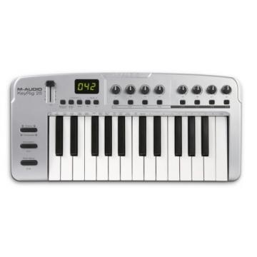 M-Audio Keyrig 25 25-note  Synth-Action Keyboard and Midi Controller
