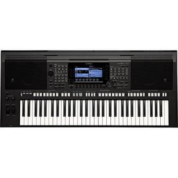 Yamaha PSR-S770 61-Key Arranger Workstation Keyboard + Knox Z-Style Electronic Keyboard Stand + Bench
