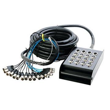 In Line Audio 12 Channel Audio Snake - (100 Feet) (Black)