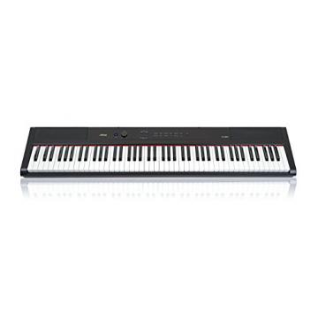 Artesia PA-88W Digital Piano (Black) 88-Key With 12 Dynamic Voices and Semi-weighted Action + Power Supply + Sustain Pedal