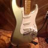 Custom MJT reliced stratocaster shoreline gold, Musikraft flame maple neck 2017 Shoreline Gold