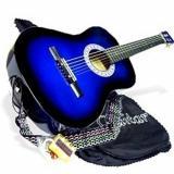 "38"" BLUE Acoustic Guitar Starter Beginner Package, Guitar, Gig Bag, Extra String & DirectlyCheap(TM) Translucent Medium Guitar Pick (BU-AG38)"