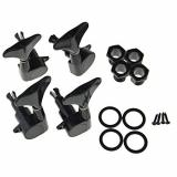 Black 2R2L Sealed Guitar Bass Tuners Tuning Pegs Tuners Machine Heads Tuning Keys