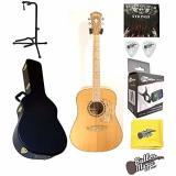 Washburn WCSD40SK Woodcraft Series Acoustic Guitar w/Hard case plus More