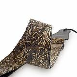 Guitar Strap, Vintage PU Guitar Strap,Wide Adjustment Range and Secure Leather Holes-Suitable for All Ages