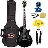 ESP LTD EC-401 Electric Guitar with Gig Bag Bundle, Black