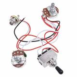 Kmise Electric Guitar Wiring Harness Kit 3 Way Toggle Switch 1v1t 500k Pots For Les Paul LP Parts 1 Set