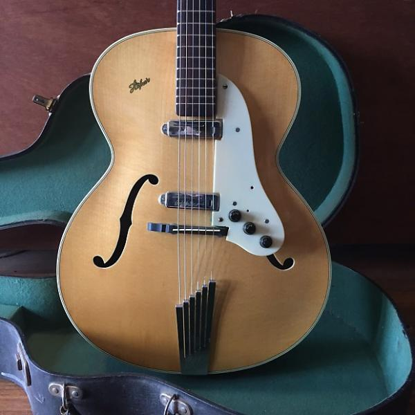 Custom 1958 Hofner Senator Blonde w Goldentone Model 1707 pickups #1 image