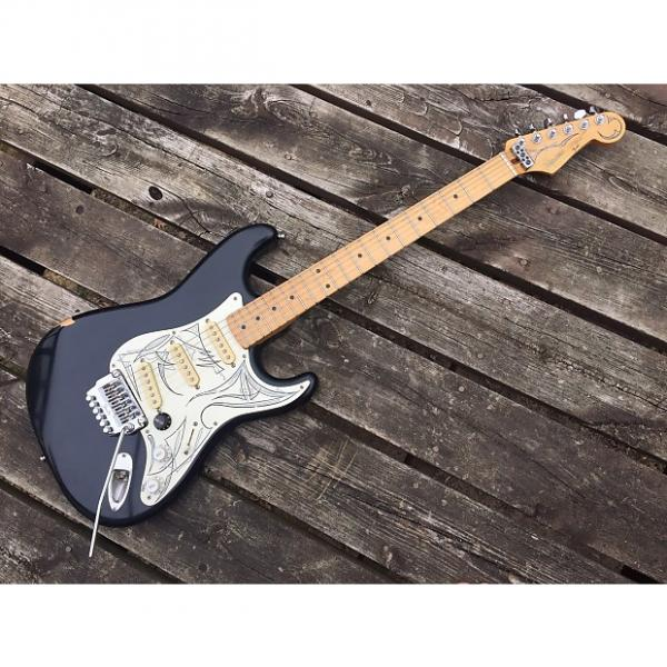 Custom Fender Squier Stratocaster 80's Matte Black #1 image