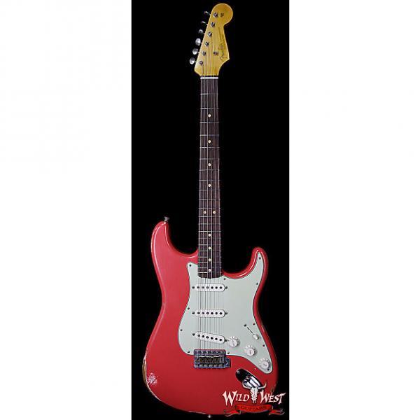 Custom Fender Custom Shop 1963 Stratocaster Relic Rosewood Fretboard Fiesta Red #1 image