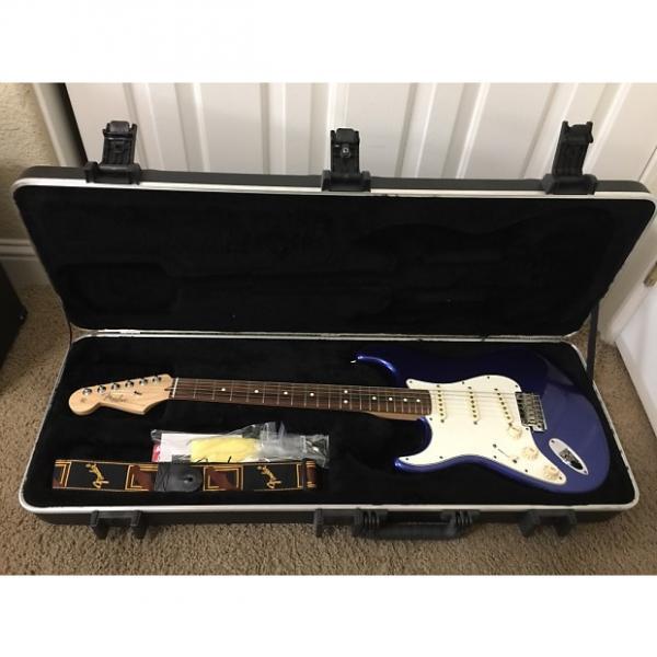 Custom Left Handed (lefty) Fender American Stratocaster 2013 Blue #1 image