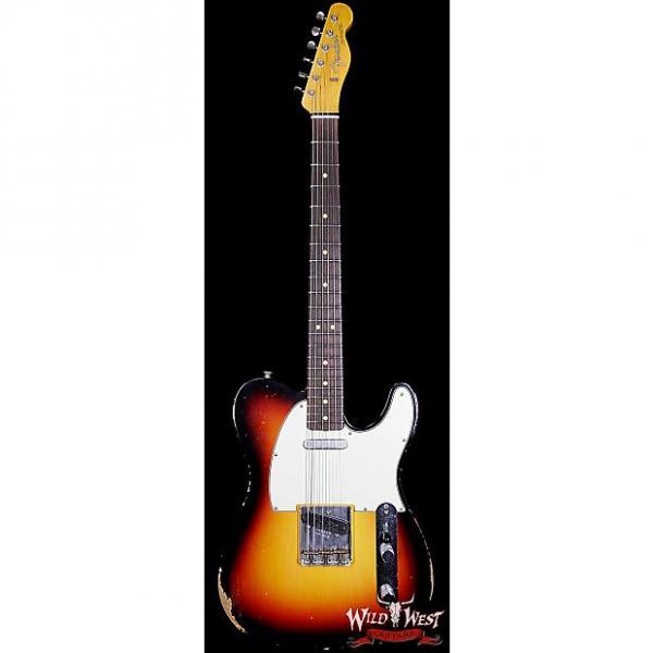 Custom Fender Custom Shop 1963 Telecaster Relic Rosewood Fretboard 3 Tone Sunburst #1 image