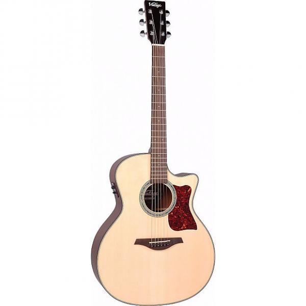 Custom Vintage VGA900N Grand Auditorium Sweetwater Acoustic/Electric Guitar #1 image