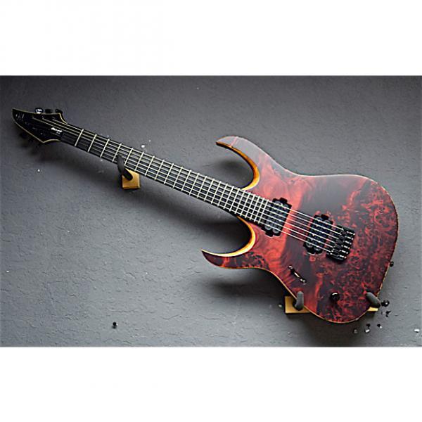 Custom Mayones Left Handed Duvall Elite-6 2017 Eye Poplar Trans Red Lefty Guitar #1 image