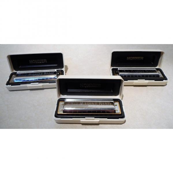Custom 3 NEW OPEN BOX HOHNER MARINE BAND HARMONICAS C, A, AND E #1 image