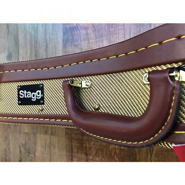 Custom Stagg Ukulele Case Deluxe Tweed Gold For Soprano #1 image