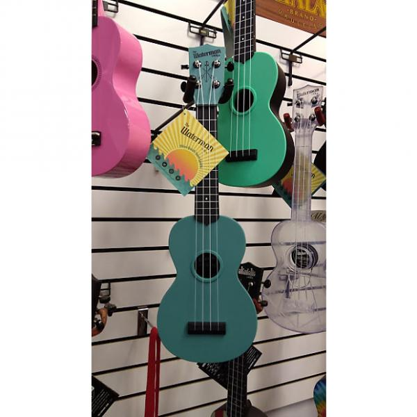 Custom Kala Glow-in-the-Dark Aqua Matte Water Resistant Soprano Ukulele #1 image