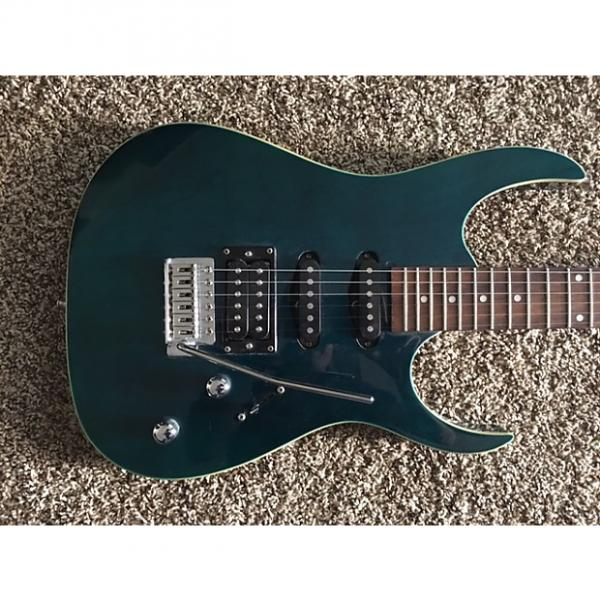Custom 2010's  S101  Cool Transparent Green / Blue Strat #1 image